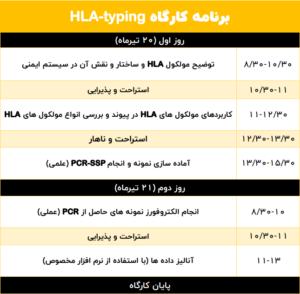 کارگاه  HLA-typing  مولکول HLA چیست؟ روش های HLA-typing کارگاه HLA-typing