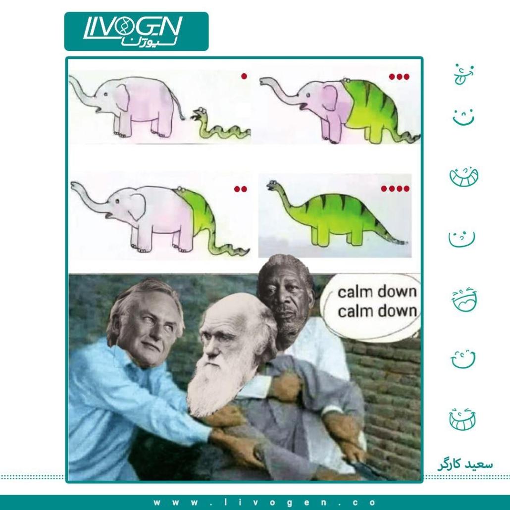 تکامل دایناسور و واکنش داروین 😂🤦♂️